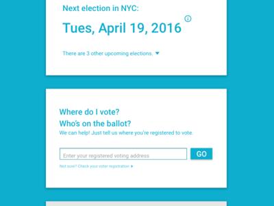 Voting Information UI