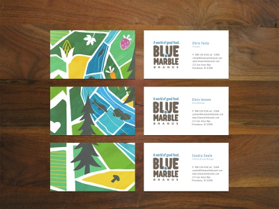Blue Marble Business Cards river farm organic