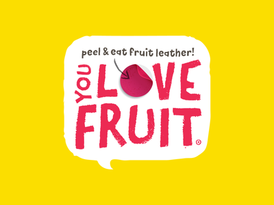 You Love Fruit Logo fruit leather snacks branding logo