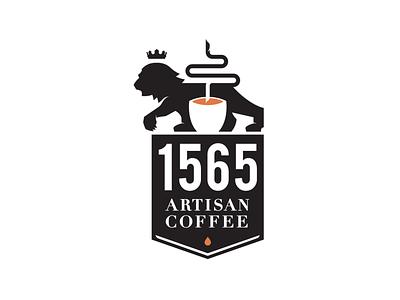 1565 Artisan Coffee espresso lion logo branding coffee