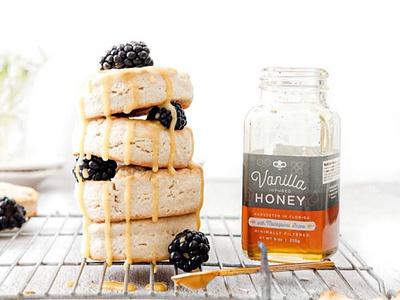 Honey Truck Co packaging logo branding small business artisan honey