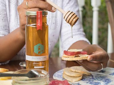 Honey Truck Co icons logo branding artisan local honey