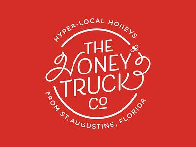 Honey Truck Co Logo local bee honey branding logo