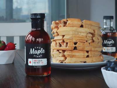 The Maple Stand packaging branding syrup maple syrup