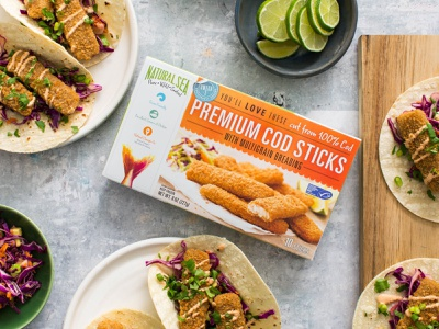 Natural Sea ocean fish sustainable line caught branding tuna packaging