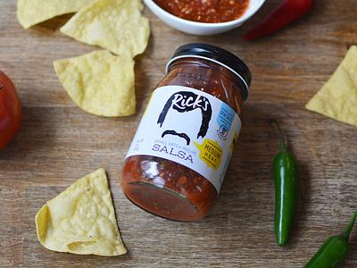 Rick's Small Batch Salsa texas pepper mustache salsa