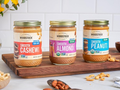 Woodstock Packaging peanut butter nut butters packaging