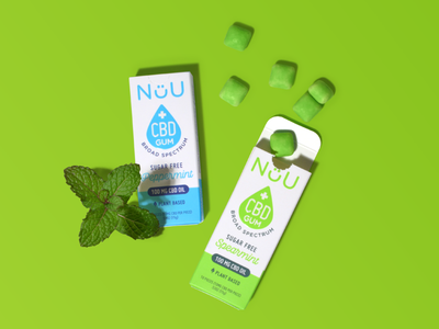 Nuu CBD gum mint branding design packaging gum cbd