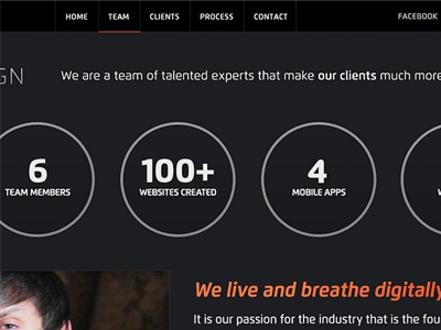 About Us Circles circles about info graphic stats statistics clean numbers header dark black orange