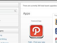 Apps & Widgets Shop UI