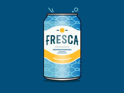 Fresca fresca drink vector art art illustration vector