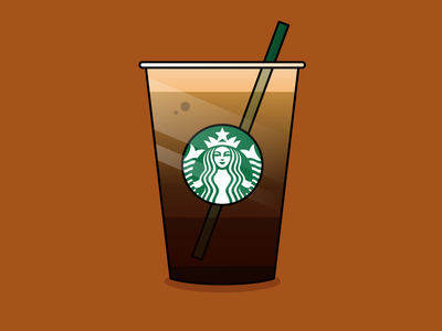 Starbucks Nitro Cold Brew coffee drinks drink adobe illustrator vector art art illustration vector