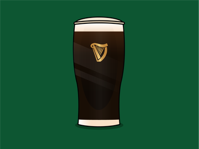 Guinness beer brand design art vector illustration