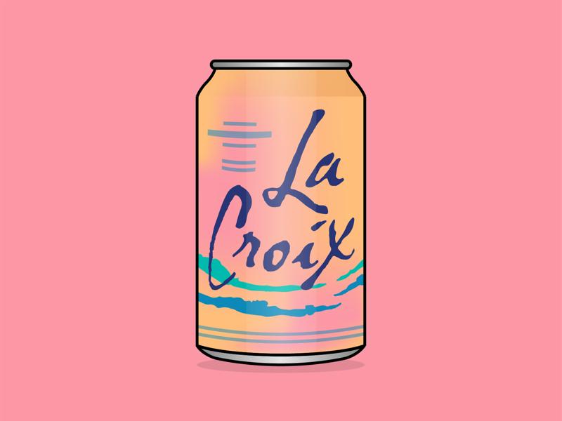 LaCroix water drinks drink brand illustrator adobe art vector illustration lacroix
