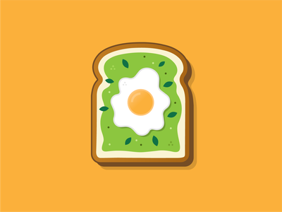 Avocado Toast design daily avocado toast avocado food art vector illustration