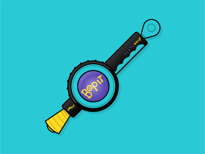 Bop It toys toy iconography icon branding brand art vector illustration