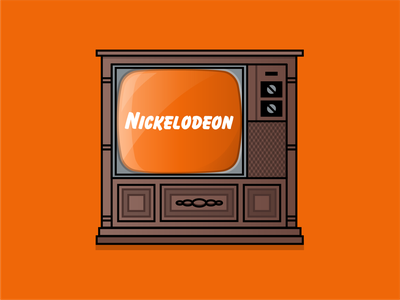 Nickelodeon nostalgia nostalgic nickelodeon design branding brand iconography icon art vector illustration