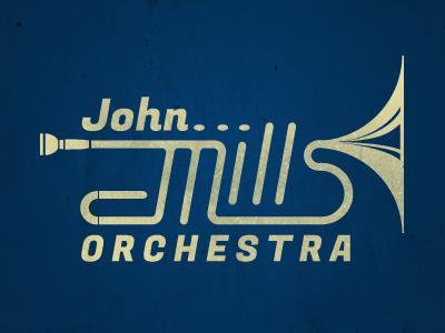 John Mills Orchestra Logo logo instrument trumpet