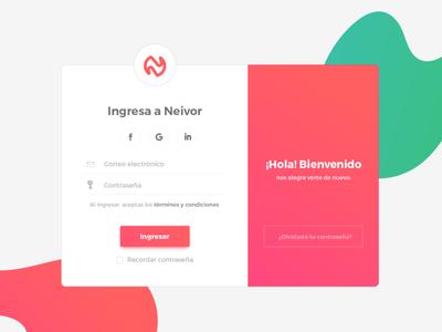 Login Neivor daily ui ui interface inspiration logo web ux login design branding design branding brand app design app