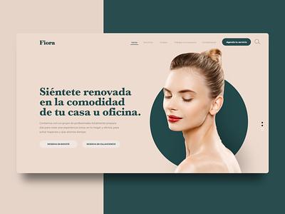 Fiora web design website design app web design daily ui brand branding ux ui beauty logo beauty webdesign website web inspiration