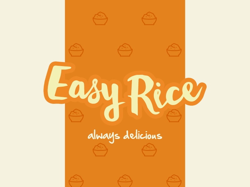 Easy Rice app food rice symbol creative inspiration brand mark brand identity logo desig cool awesome delicius brand