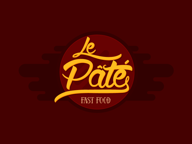 Le Pate - Fast Food brand delicius awesome cool logo desig brand identity brand mark inspiration creative symbol fast food fried frie
