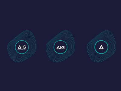 AIG Technology Responsive brand brand logo inspiration phone technology illustration vector graphic design draw icon wordmark
