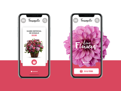 Flower Shop phone shop interface layout website web design ux iu web design flower gift