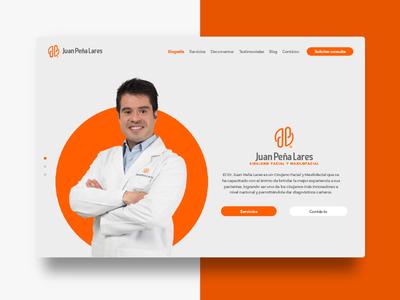 Juan peña Lares Web brand brand identity branding ui logo web design logotype surgeon