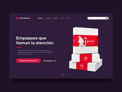 Web design infrarrojo estudio landing page interface cake web design company web design agency web design web identity graphic design ux ui design inspiration brand