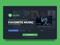 Daily IU 001 - Sign Up concept for Spotify