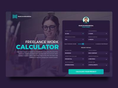 Daily web design 004 Freelance calculator
