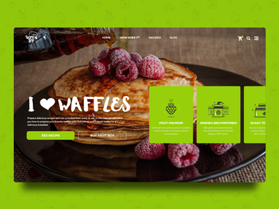 Dribbble Daily UI 005 - Web Icon interface design interface landing page web food fruit icon daily ui 005 daily ui daily 100 web deisgn inspiration brand