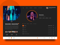 Music player concept for Soundcloud