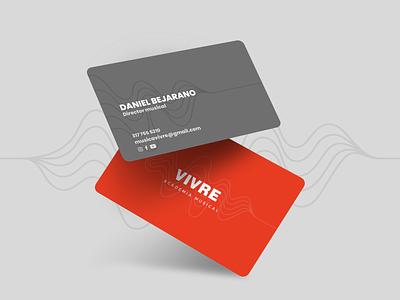 Vivre Business Card music logo design logotype logos business card design business cards businesscard brand design branding
