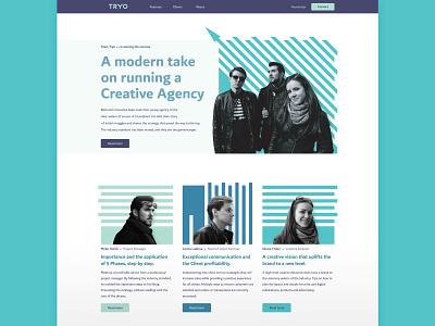 Tryo Home Page Design minimal ui landing page website home page branding logo flat design vector web graphic design