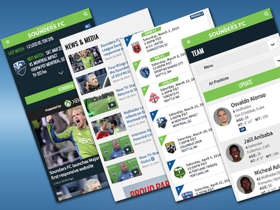 Seattle Sounders FC Responsive Mobile