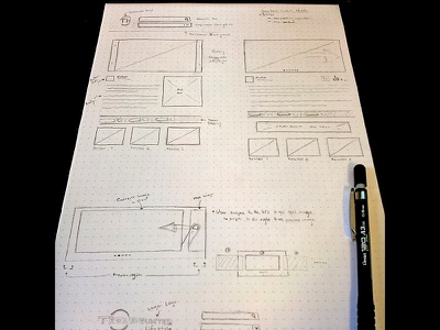 Responsive Sketch/Wireframe wireframe sketch responsive dotpad ux ui web pencil