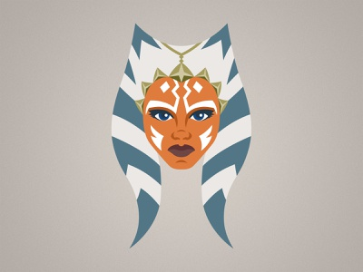 Ahsoka Tano Illustration lucasfilm disney vector character maul illustration jedi clone wars star wars ahsoka