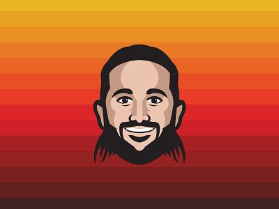 Ricky Rubio Player Illustration player ricky rubio logo design illustration jazz utah nba sports basketball athletics