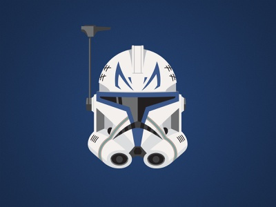 Captain Rex Illustration vector lucasfilm star wars logo design illustration disney captain rex clone trooper clone wars character