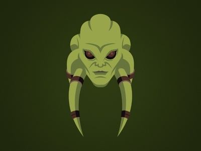 Kit Fisto Illustration episode clones attack kit fisto alien star wars master lucasfilm jedi logo illustration disney design clone wars character