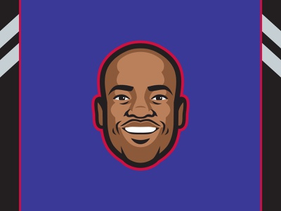Vince Carter Player Illustration retirement vinsanity raptors vince carter player sports vector nba logo illustration design basketball athletics