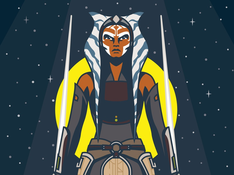 I Am No Jedi - Ahsoka Tano Illustration wars star lightsaber design vectorart vector lucasfilm jedi character illustration disney rebels clone wars star wars ahsokatano ahsoka