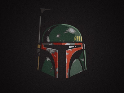 Mandalorian Illustration Series - Boba Fett empire strikes back vectorart vector wars star wars star boba fett mandalorian lucasfilm illustration helmet design character bounty hunter baby yoda