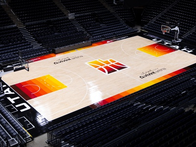 Utah Jazz 2021 City Edition Court st. george city basketball southern jazz utah dark court black arches red gradient nba