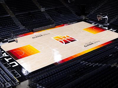 Utah Jazz 2021 City Edition Court st. george city basketball southern jazz utah dark court black arches red gradient nba