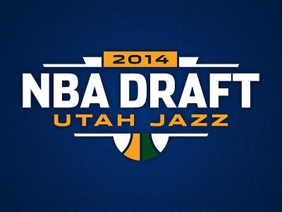2014 Utah Jazz NBA Draft utah jazz nba draft basketball lottery logo