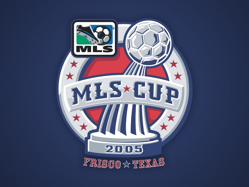 2005 MLS Cup badge stars texas championship mls trophy cup team identity soccer athletics logo