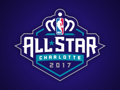 NBA All-Star Charlotte 2017 honeycomb crown logo event hornets charlotte all-star basketball nba